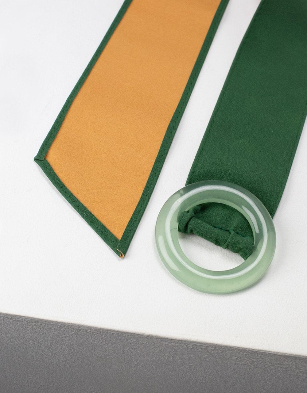 Εικόνα από Γυναικείες ζώνες με στρογγυλό τοκά Πράσινο
