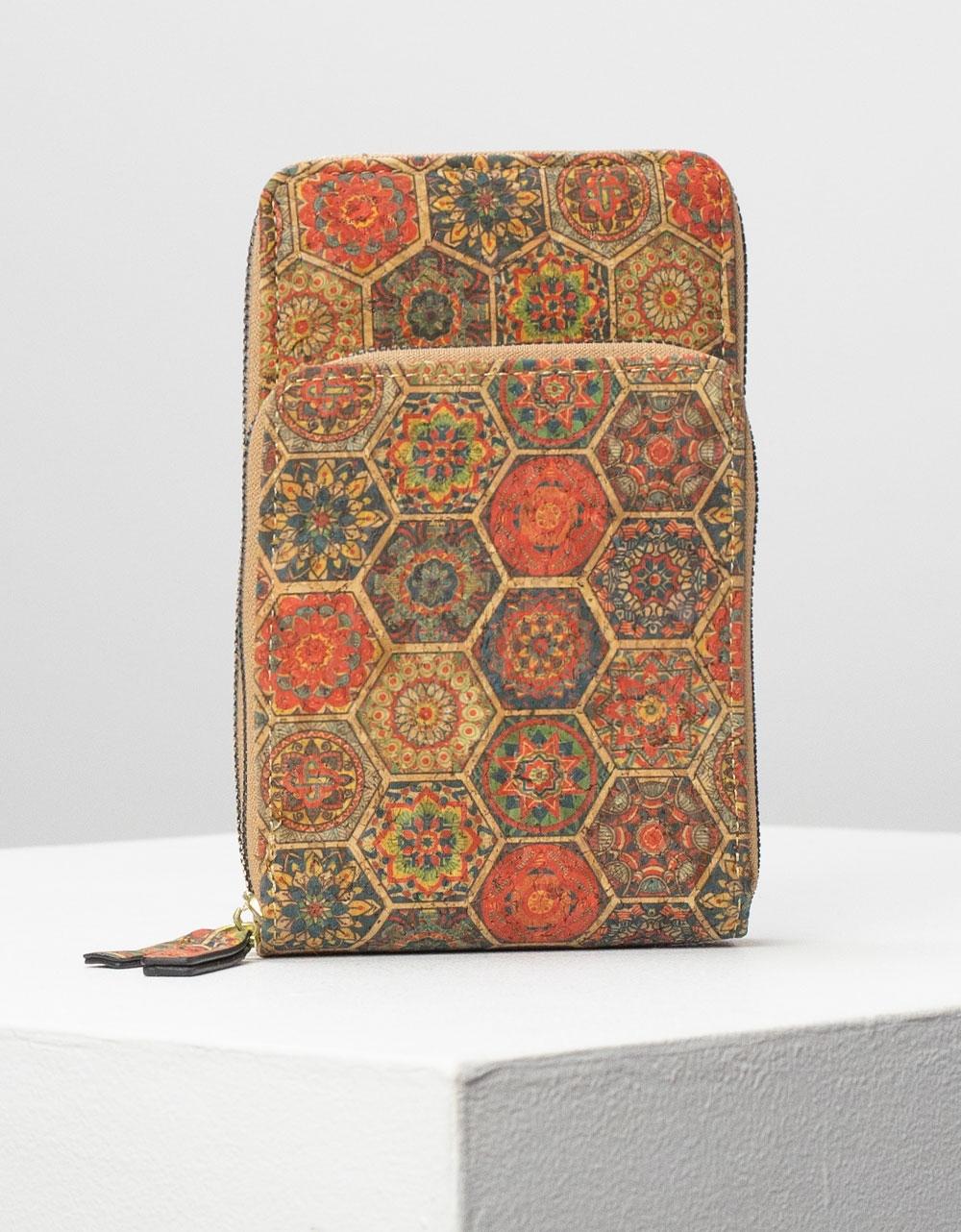 Εικόνα από Γυναικεία πορτοφόλια σε συνδιαμό χρωμάτων Κόκκινο