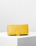 Εικόνα από Γυναικεία πορτοφόλια δερμάτινα με πολλές θήκες Κίτρινο