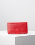 Εικόνα από Γυναικεία πορτοφόλια δερμάτινα με πολλές θήκες Κόκκινο