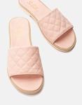 Εικόνα από Γυναικεία σανδάλια από γνήσιο δέρμα με καπιτονέ φάσα Ροζ