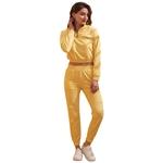 Εικόνα από  Γυναικεία σετ ρούχων παντελόνι & μπλουζάκι με λάστιχο Κίτρινο