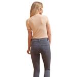 Εικόνα από Γυναικείο ριπ μπλουζάκι κοντομάνικο Μπεζ