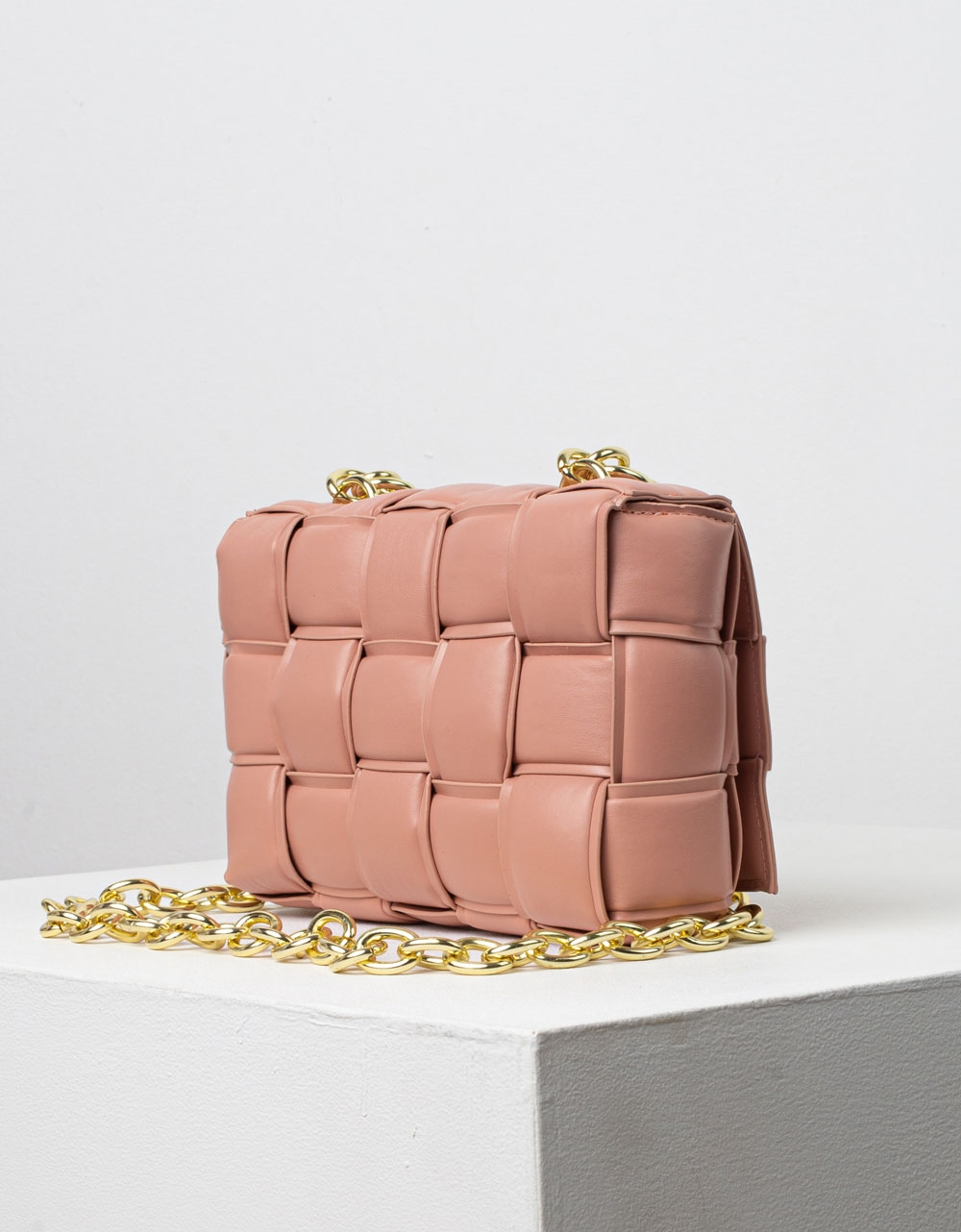 Εικόνα από Γυναικεία τσάντα ώμου & χιαστί καπιτονέ Ροζ