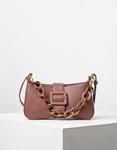 Εικόνα από Γυναικεία τσάντα ώμου & χιαστί με στρογγυλά λουράκια Ροζ