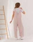 Εικόνα από Γυναικεία ολόσωμη φόρμα σε φαρδιά γραμμή Ροζ