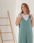 Εικόνα από Γυναικεία ολόσωμη φόρμα σε φαρδιά γραμμή Πράσινο