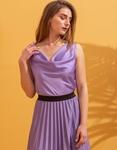 Εικόνα από Γυναικεία μπλούζα τοπ τιραντάκι σατεν Μωβ