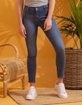 Εικόνα από Γυναικείο παντελόνι basic slim fit Τζιν