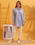 Εικόνα από Γυναικείο πουκάμισο oversized Γκρι