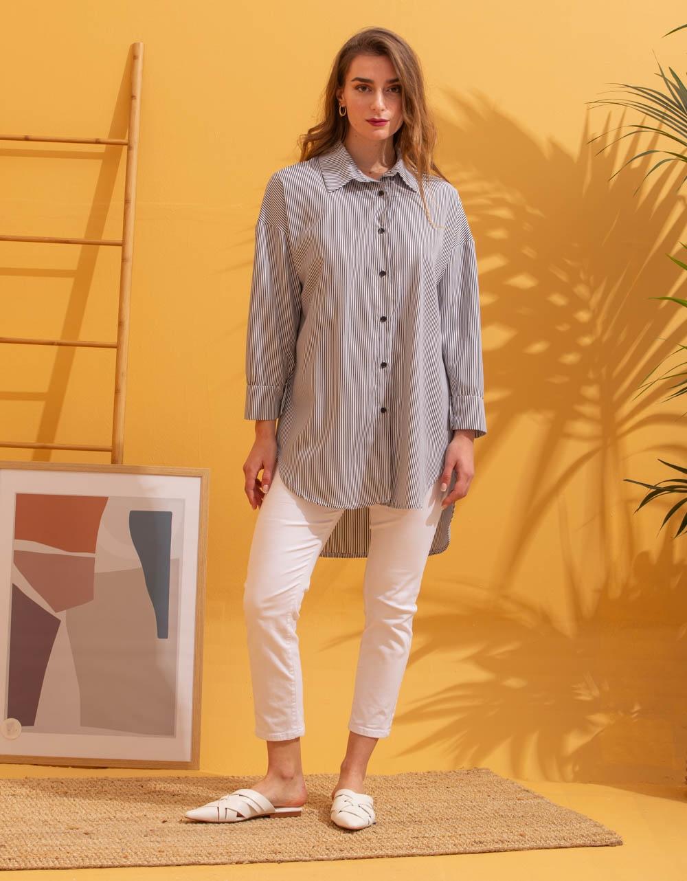Εικόνα από Γυναικείο πουκάμισο oversized Μαύρο