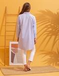 Εικόνα από Γυναικείο πουκάμισο oversized ριγέ Μπλε