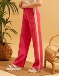 Εικόνα από Γυναικείο παντελόνι με φαρδιά μπατζάκια Φούξια