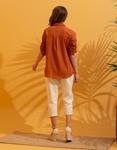 Εικόνα από Γυναικείο πουκάμισο σε ίσια γραμμή Καφέ