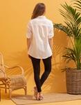 Εικόνα από Γυναικείο πουκάμισο σε ίσια γραμμή Λευκό