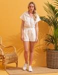 Εικόνα από Γυναικείο σόρτς & μπλούζα σετ αθλητικό Λευκό