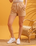 Εικόνα από Γυναικείο σόρτς & μπλούζα σετ αθλητικό Μπεζ