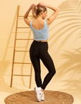 Εικόνα από Γυναικεία αμάνικη μπλούζα με φερμουάρ Σιέλ