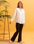 Εικόνα από Γυναικείο πουκάμισο ασύμμετρο Λευκό
