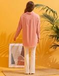 Εικόνα από Γυναικείο πουκάμισο ασύμμετρο Ροζ