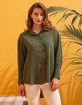 Εικόνα από Γυναικείο πουκάμισο ασύμμετρο Πράσινο