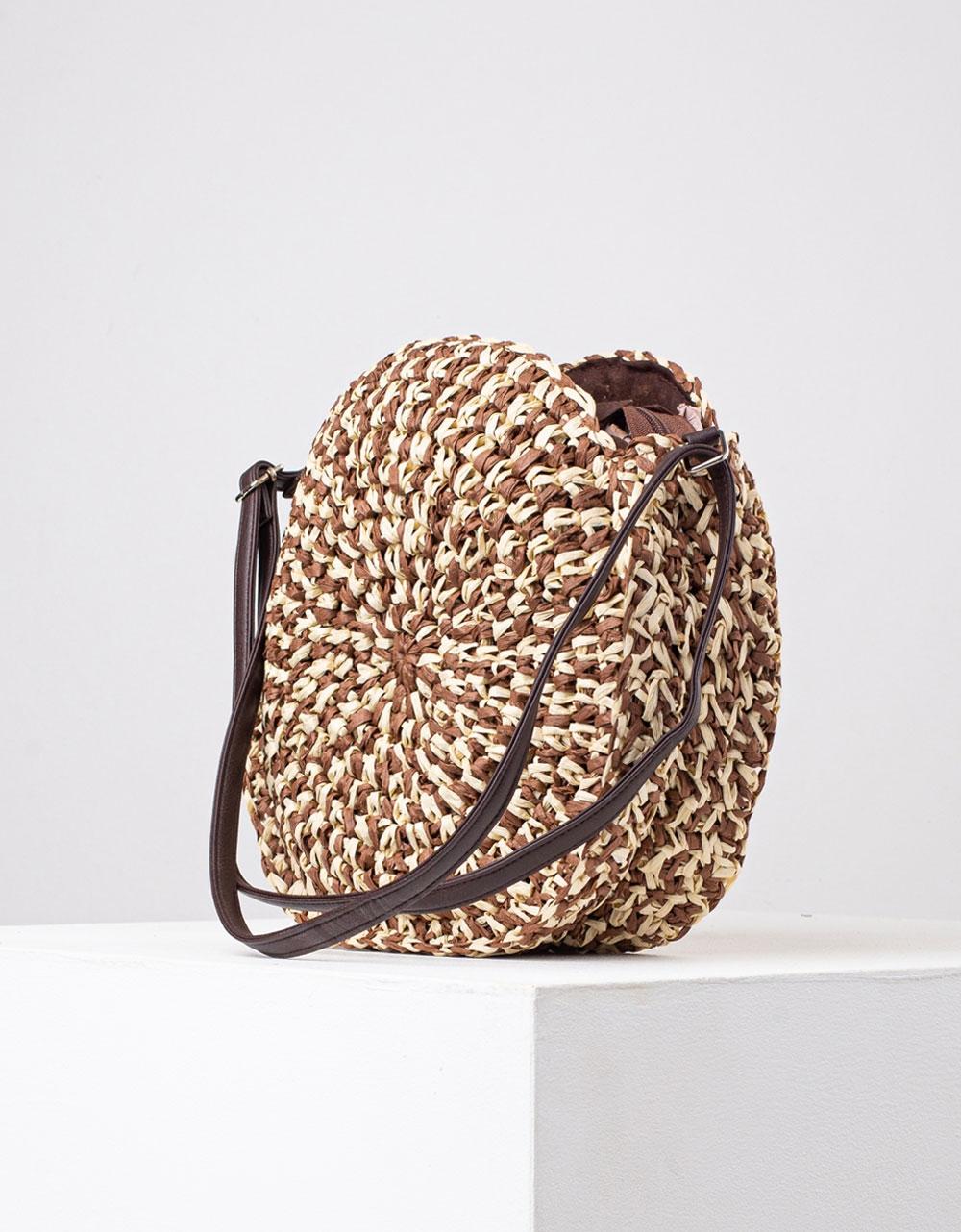 Εικόνα από Γυναικείες τσάντες ώμου ψάθινες Πούρο