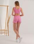 Εικόνα από Γυναικείο σετ activewear σόρτς & crop top Ροζ