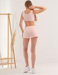 Εικόνα από Γυναικείο σετ activewear σόρτς & crop top Σομόν