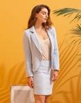 Εικόνα από Γυναικείο σετ φούστα & σακάκι με σχέδιο Σιέλ