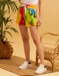 Εικόνα από Γυναικείο σορτς φούτερ tie dye Multi
