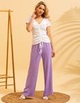 Εικόνα από Γυναικεία μπλούζα με σούρα Λευκό