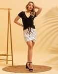 Εικόνα από Γυναικεία μπλούζα με σούρα Μαύρο
