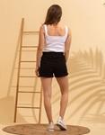 Εικόνα από Γυναικειό ψηλόμεσο σορτς Μαύρο
