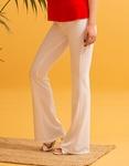 Εικόνα από Γυναικείo παντελόνι καμπάνα Λευκό