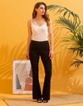 Εικόνα από Γυναικείo παντελόνι καμπάνα Μαύρο