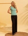 Εικόνα από Γυναικεία μπλούζα με βολάν στο μανίκι Πράσινο