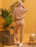 Εικόνα από Γυναικεία σετ ρούχων παντελόνι & μπλουζάκι Μπεζ