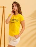 Εικόνα από Γυναικεία μπλούζα με στάμπα Κίτρινο