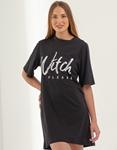 Εικόνα από Γυναικεία μπλούζα oversized με τύπωμα Μαύρο