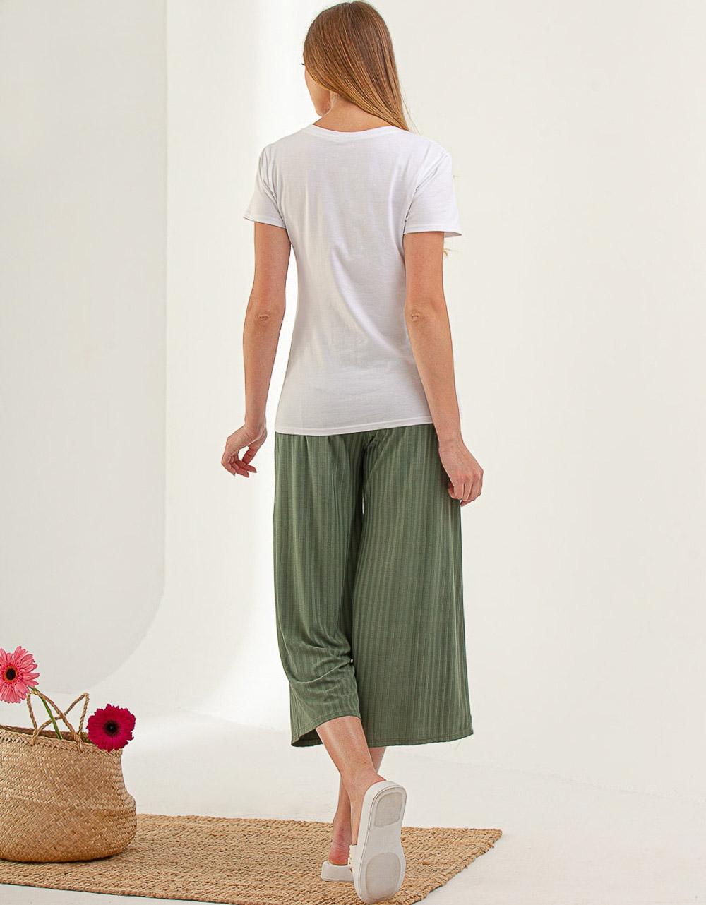 Εικόνα από Γυναικείο t-shirt σε απλή γραμμή Λευκό