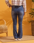 Εικόνα από Γυναικείo παντελόνι με φαρδιά μπατζάκια καμπάνα Τζιν