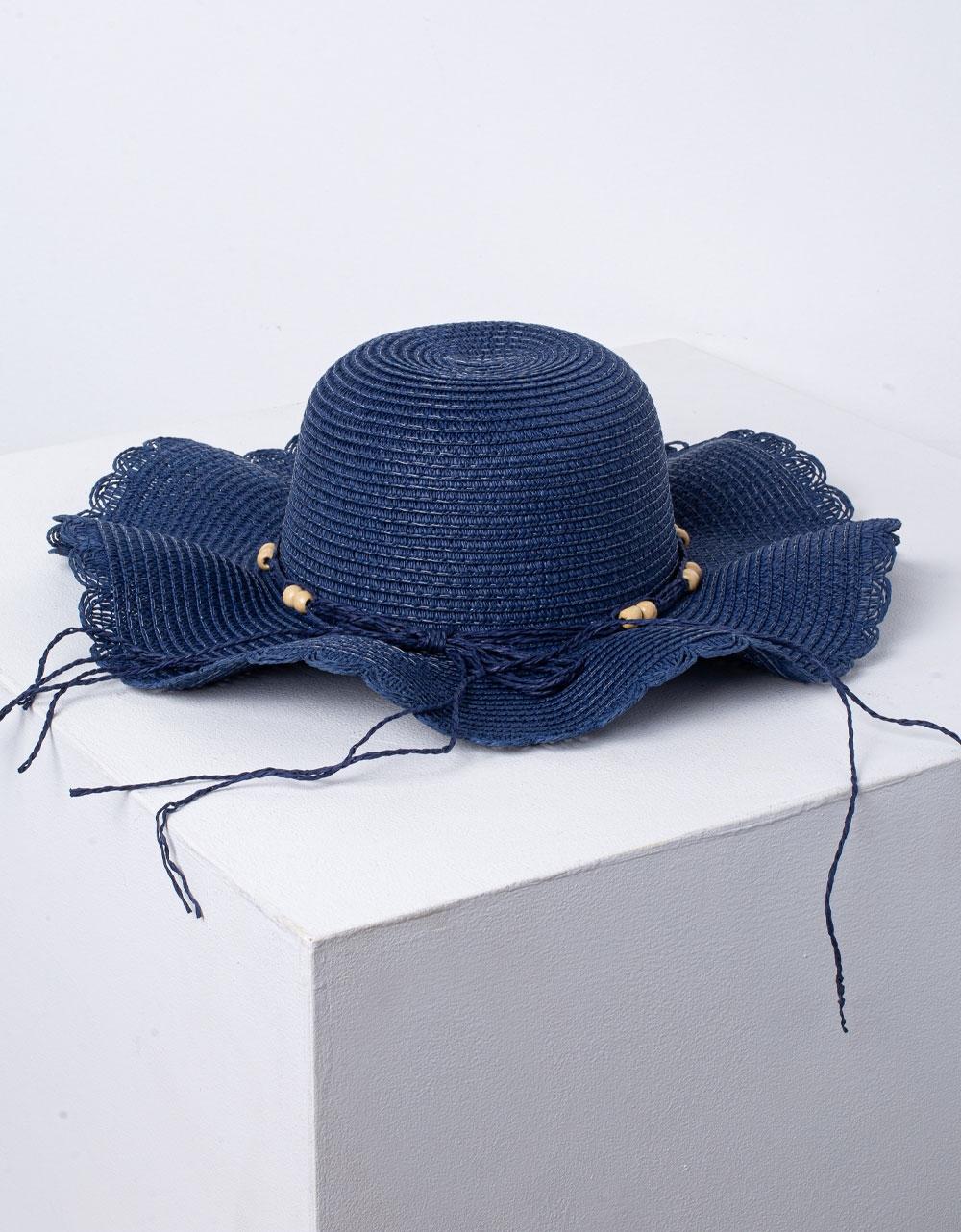 Εικόνα από Γυναικεία καπέλα με διακοσμητικά Μπλε