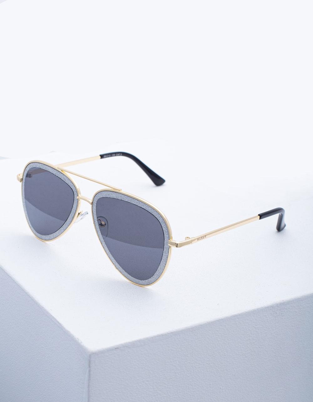 Εικόνα από Γυναικεία γυαλιά ηλίου με λεπτό σκελετό Χρυσό