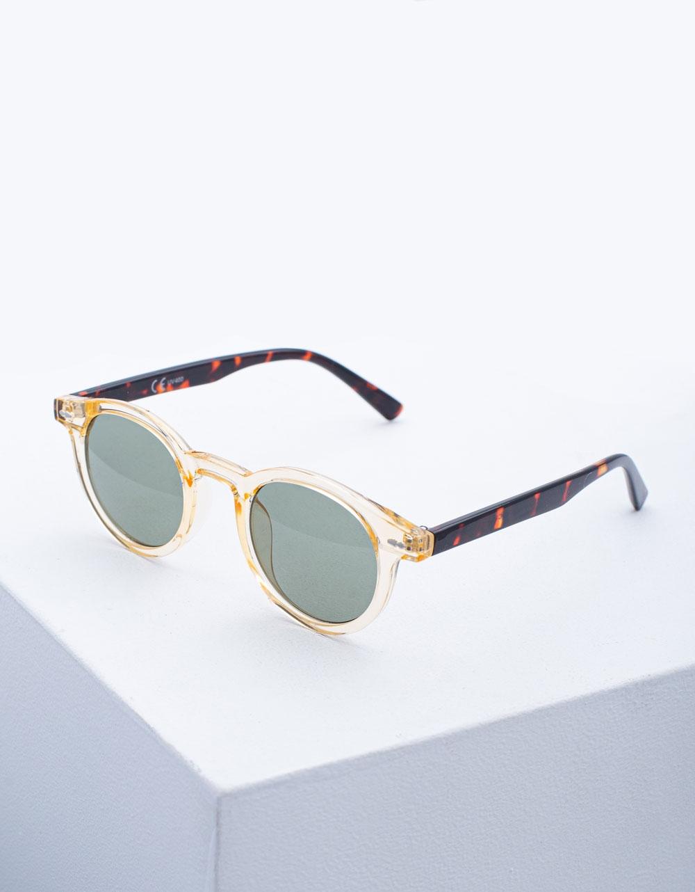 Εικόνα από Γυναικεία γυαλιά ηλίου σε στρογγυλό σχήμα Πράσινο