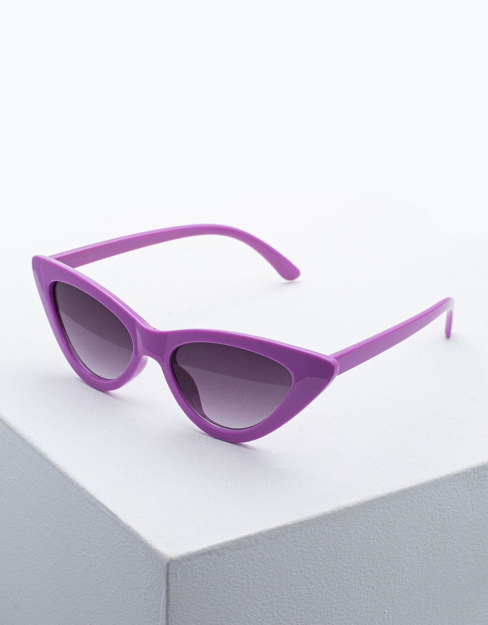 Εικόνα από Γυναικεία γυαλιά ηλίου σε σχήμα πεταλούδας Μωβ