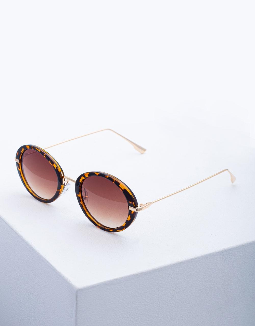 Εικόνα από Γυναικεία γυαλιά ηλίου με λεπτό σκελετό Λεοπάρ
