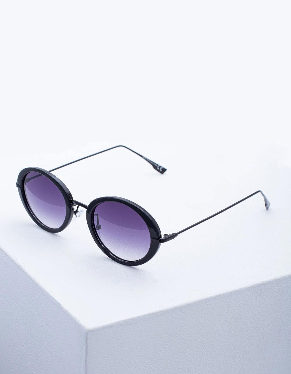 Εικόνα από Γυναικεία γυαλιά ηλίου με λεπτό σκελετό Μαύρο