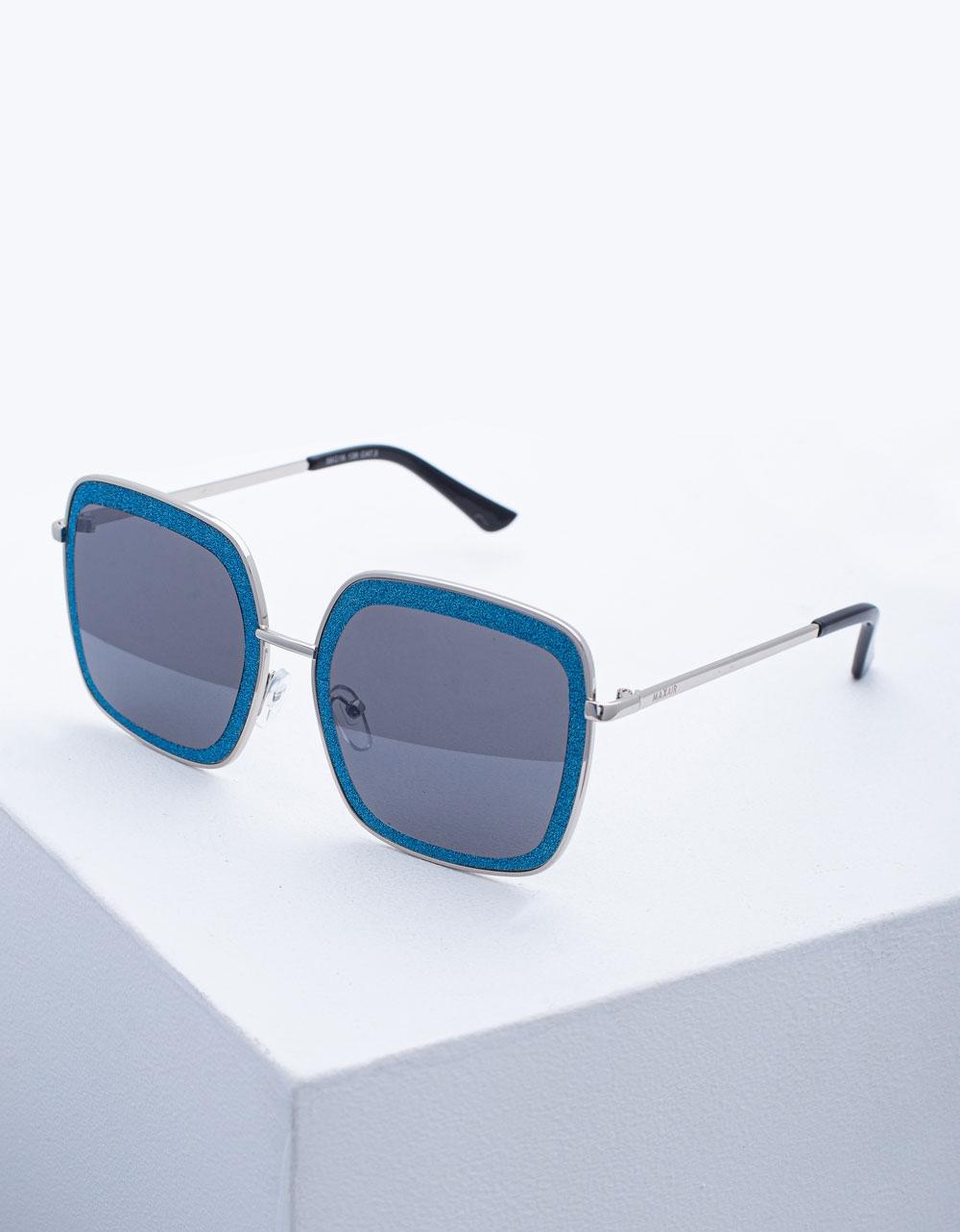 Εικόνα από Γυναικεία γυαλιά ηλίου oversized με τετράγωνο σχήμα Σιέλ