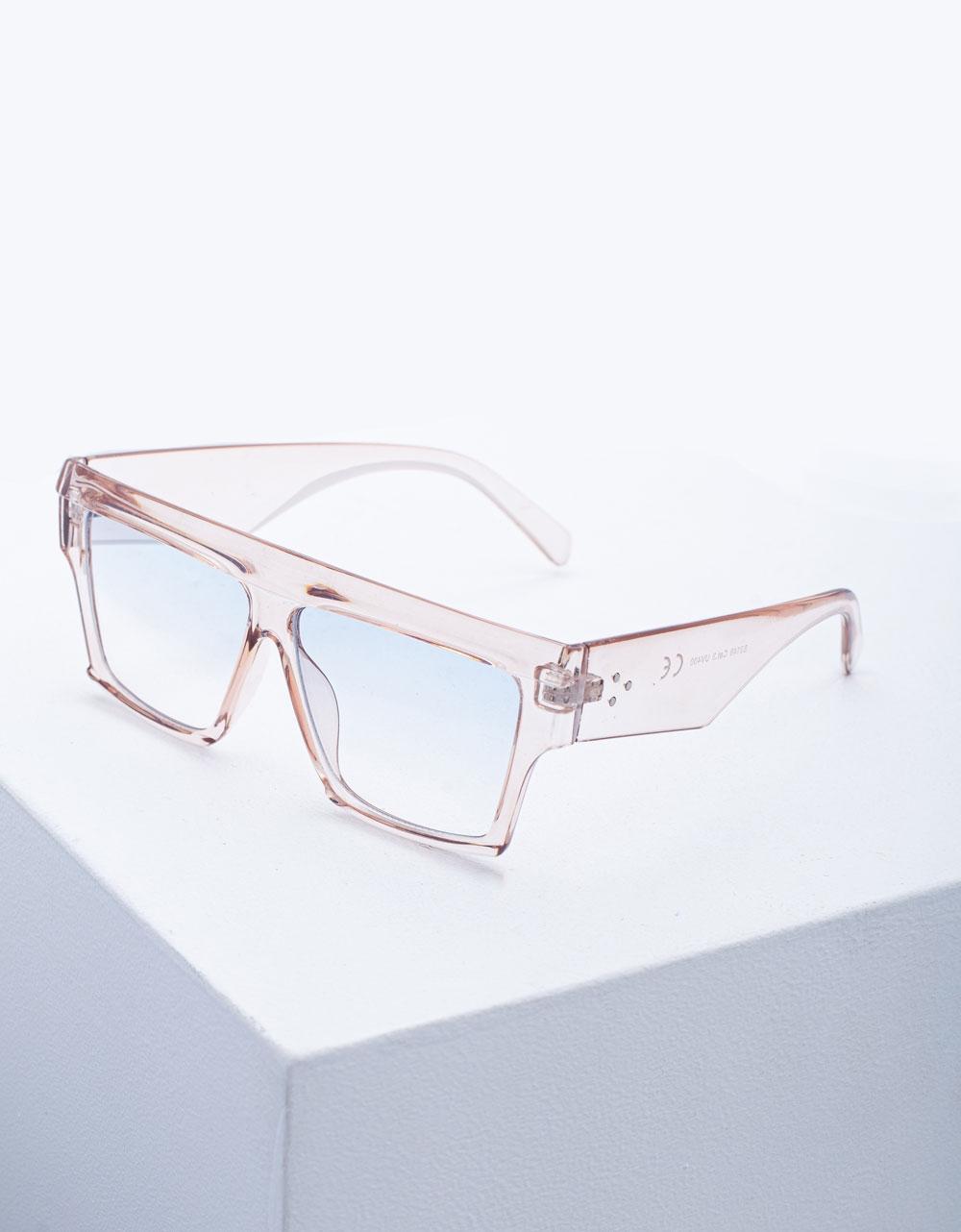 Εικόνα από Γυναικεία γυαλιά ηλίου σε τετράγωνο σχήμα Ροζ
