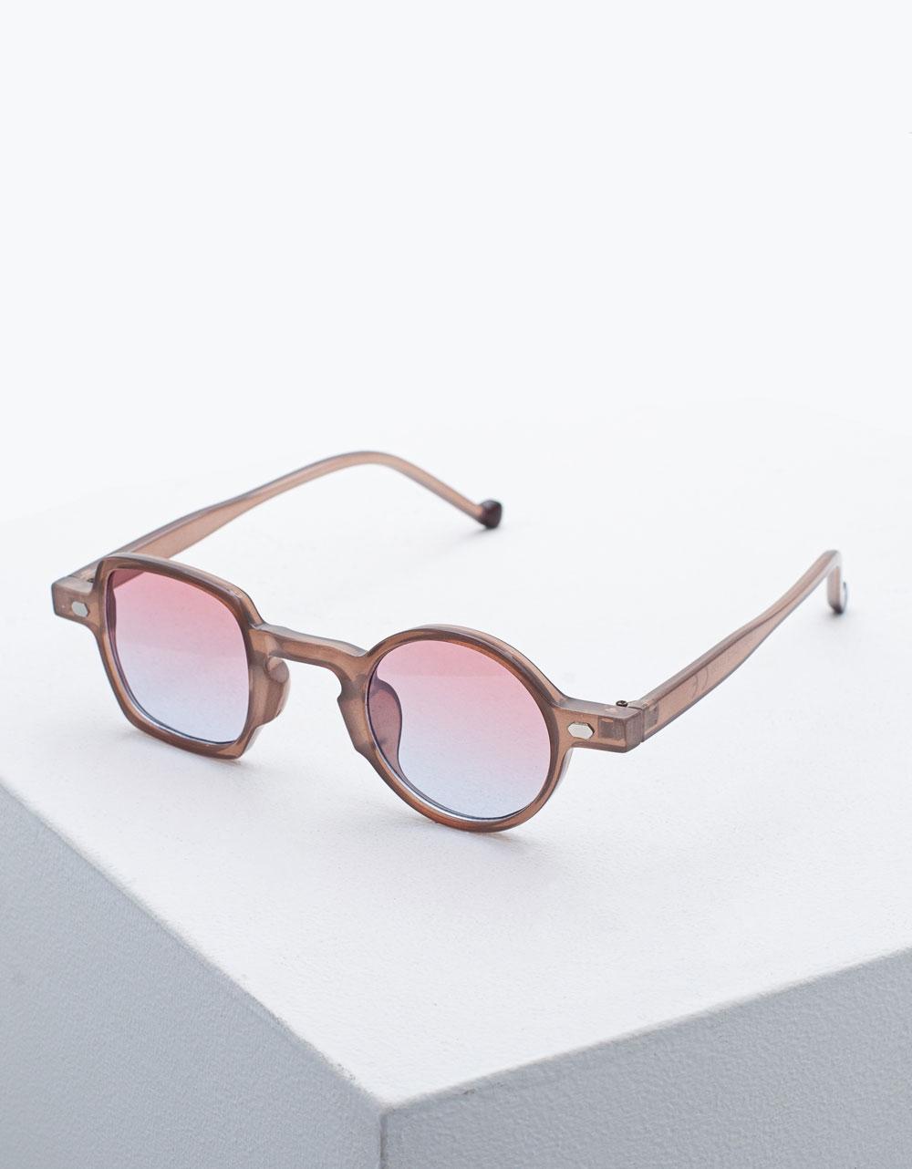 Εικόνα από Γυναικεία γυαλιά ηλίου με διαφορετικό σχήμα Καφέ
